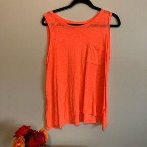 Never worn bright orange tank top